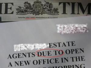 estate agent flyer