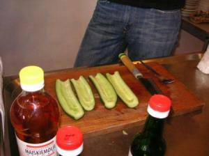 prepared cucumber
