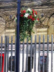 hanging basket at a station