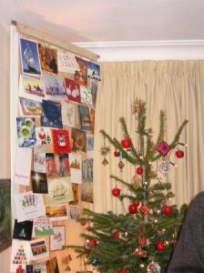 beside the christmas tree