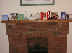 at the mantlepiece
