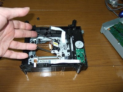Samsung ピックアップユニットの取り出し