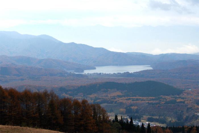 妙高高原からの野尻湖