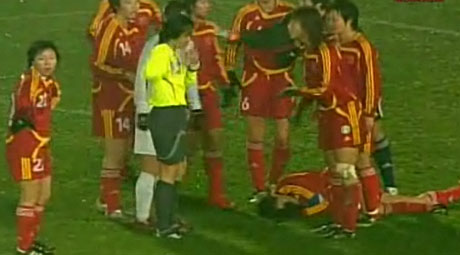 女子サッカー東アジア中国対韓国