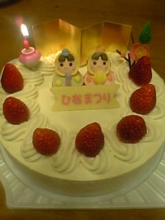 雛ケーキ。