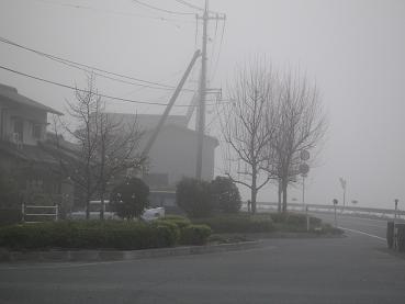 霧に煙る街・・・・・ダンディyamanoには霧がよく似合う