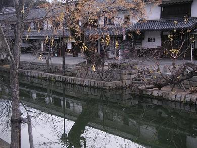 2008年1月13日早朝の倉敷美観地区