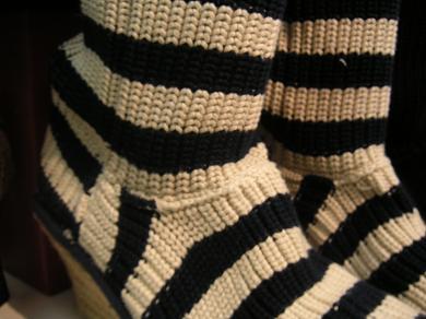 ボーダーのセーターみたいでしょ!