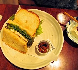 アボガド豆腐サンド