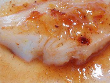 白身魚のソテーオレンジバターソース