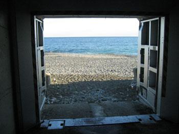 海が見えます。