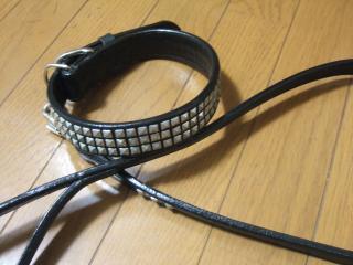 馬具職人が作ったリードと首輪(2)