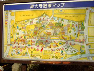 深大寺散策マップ