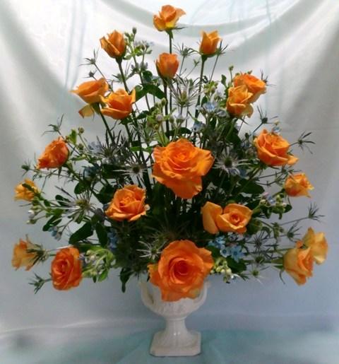 バラのアレンジ