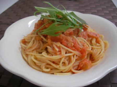 トマトのアンチョビーパスタ