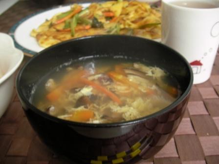 椎茸のかき玉スープ