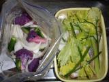 サーモンマリネと酢漬け野菜