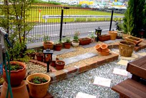 殺風景な庭
