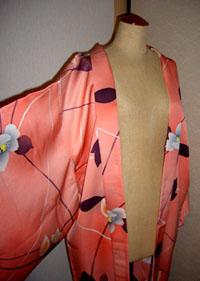 シャーベットオレンジの羽織