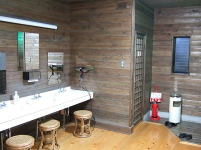 藤もと大浴場・左側・洗面