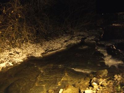 藤もと 家族風呂からみた川