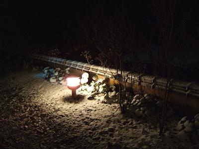 藤もと 和室からみた雪景色