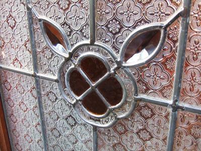 ほたるの長屋 「有為の奥山」玄関のガラスアップ