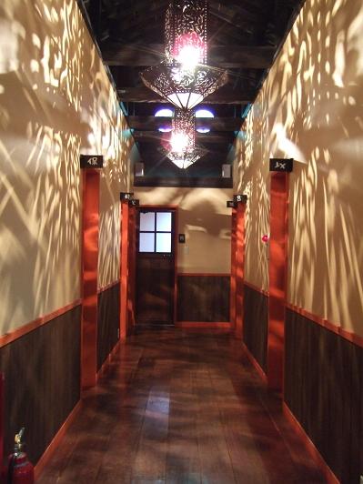 ほたるの長屋 家族風呂 廊下