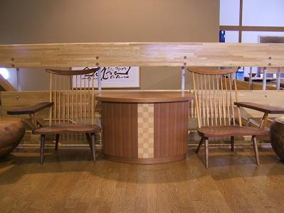 花木の宿 ロビーの椅子