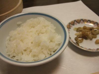 御飯とザーサイ
