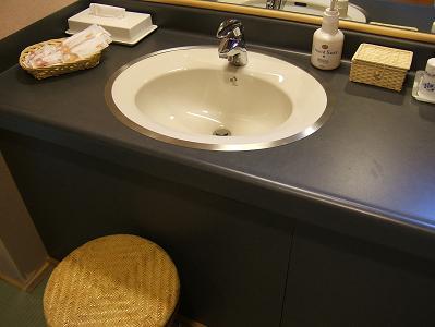 渓流荘しおり絵 貸切風呂洗面