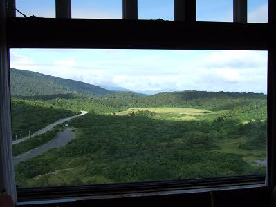 栗駒山荘特別室眺望 夏