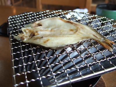 栗駒山荘朝食 干物
