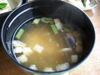 栗駒山荘朝食 味噌汁
