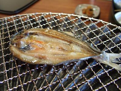 栗駒山荘朝食 干物(2日目)