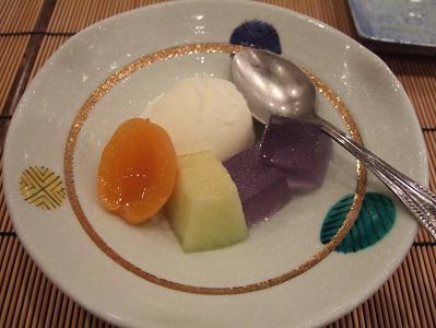 栗駒山荘夕食 デザート
