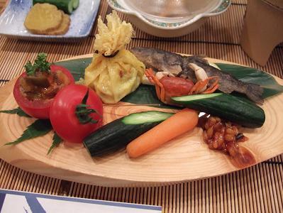 栗駒山荘夕食 前菜
