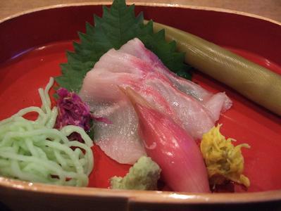 栗駒山荘夕食 お造り