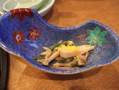 栗駒山荘夕食 籠盛り1