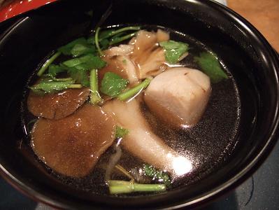 栗駒山荘夕食 お椀