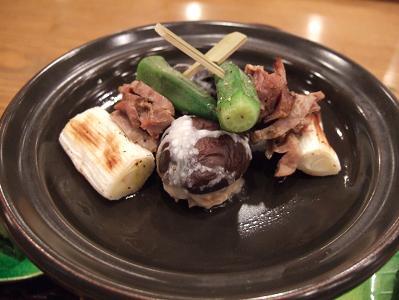 栗駒山荘夕食 焼八寸