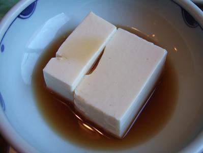 都わすれ 朝食 おかず(湯豆腐?豆乳豆腐?)