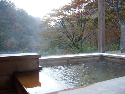 都わすれ 部屋付露天風呂からの風景(部屋:唐くれない)