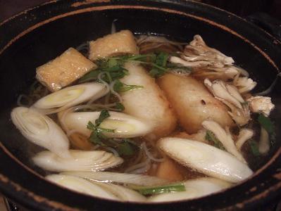 都わすれ 夕食 温物(きりたんぽ鍋)