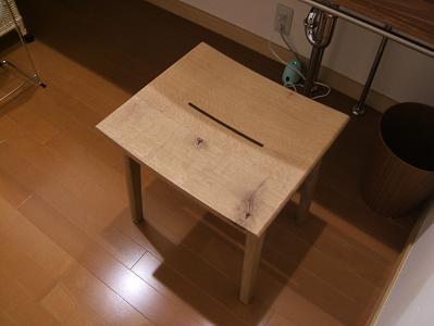 もずも 部屋の洗面スペースにある椅子