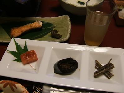 せきや朝食 鮭、明太子など