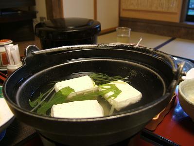 せきや朝食 湯豆腐