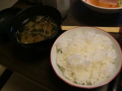 せきや朝食 ご飯と味噌汁