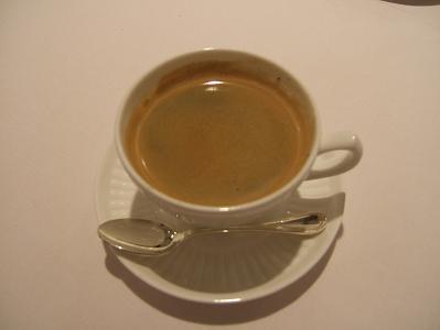 食後のエスプレッソコーヒー