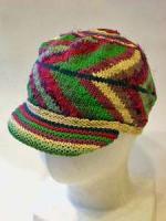 手編みのかわいいニット帽